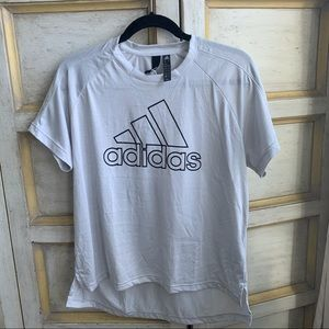 Adidas Gray Logo Activewear T-Shirt